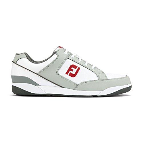 FJ Originals Herren Golfschuhe - Wasserdicht (44, White/Grey)