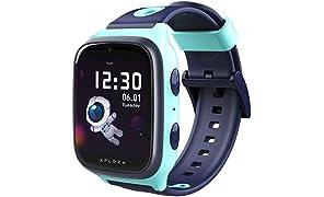 XPLORA 4 - Teléfono Reloj 4G para niños (SIM no incluida) - Llamadas, Mensajes, Modo Colegio, SOS, GPS, cámara y podómetro - Incluye 2 años de garantía (Turquesa)