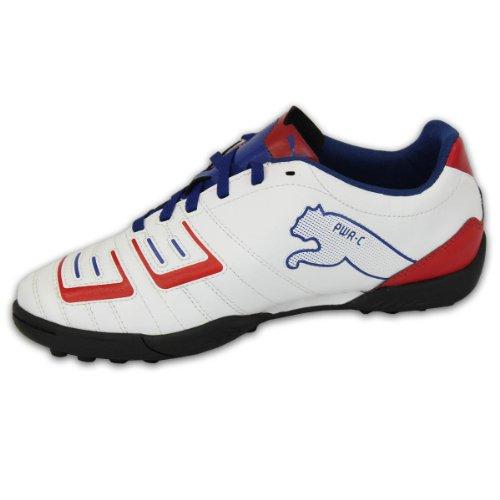 Puma - Kinder Jungen Turnschuhe Astro Turf Fußball Schuhe Zum Schnüren Sport Smart Neu Weiß/Rot