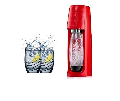 Sodastream Spirit Pack Plastique, polyéthylène téréphtalate (Pet) Rouge à Soda