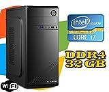 PC DESKTOP FISSO Intel i7-7700 / RAM 32GB DDR4/ HD 1TB / WI-FI / MASTERIZZATORE LG / LICENZA WINDOWS 10