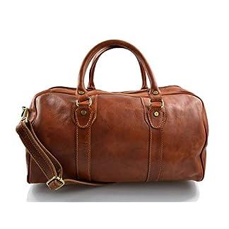 Bolso de viaje deportivo mujer hombre miel bolso de cuero con asas y correa de piel genuina bolso de mano de viaje bolso de espalda