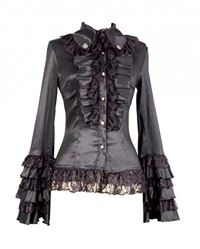 Gótico de la blusa Negro