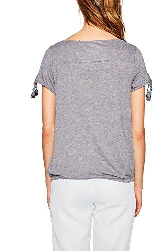 edc by ESPRIT Damen T-Shirt Grau (Light Grey 040)