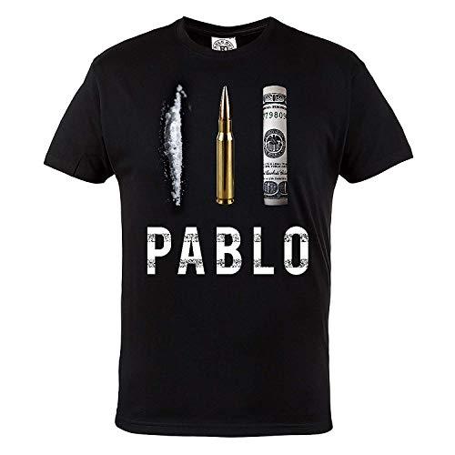 Mafia Hardcore ROPA camiseta narcos. PABLO escobar. El PATRULLA DEL MAL. Rule out . FAN. Ropa Casual - Negro, Small