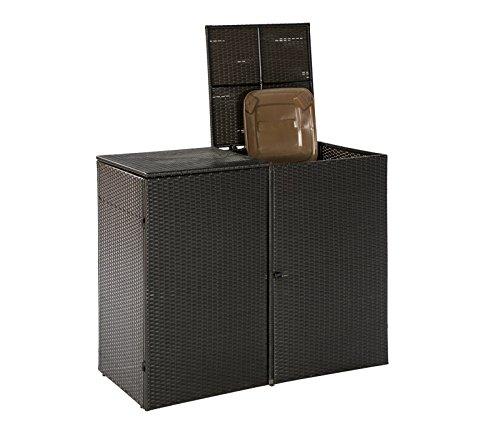 Mülltonnenabdeckung 2er Mülltonnenbox Abfalltonnenbox - 2