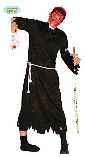 KOSTÜM - ZOMBIE PFARRER - Größe 52-54 (L), Pater Pastor Geistlicher (Pater Kirche Kostüm)