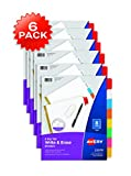 Best Avery Dividers - Avery Big Tab Write & Erase Dividers, 8-Tab Review