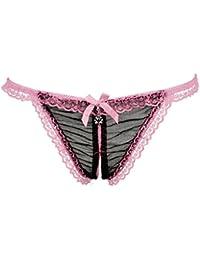 K-youth® Mujeres Atractivas Bajo Cintura Bowknot Cuentas De Calcetines Encaje G String Thongs