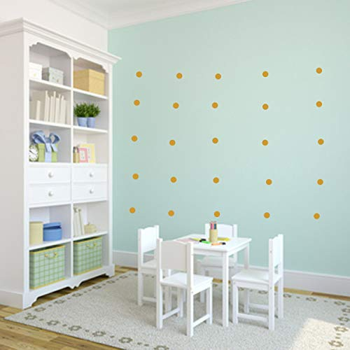 Wandschnörkel ® 80 Punkte Konfetti Punkte Kreise Polka Dots Wandtattoo Möbel Spiegel Fenster Türen Fliesen Aufkleber selbstklebend Kinderzimmer Wohnzimmer Bad.