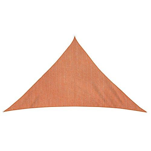JAROLIFT Voile d'ombrage | Toile d'ombrage | Voile triangulaire| Tissu respirant | 600 x 420 x 420 cm, orange