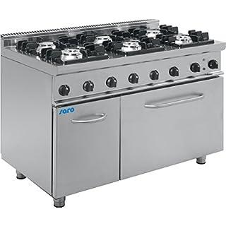 Saro 423-1045 E7/KUPG6LE Gasherd mit Elektrobackofen
