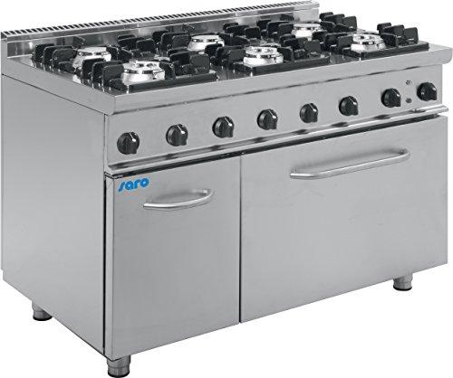 Cocina 6 luces gas de horno eléctrica/KUPG6LE SARO-E7
