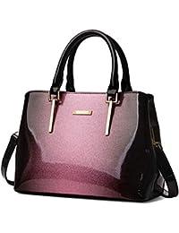 3858ab8e621f2 Yan Show Damen Lackleder Sternenklar Schultertaschen Elegant Handtasche  Multi-Tasche Geldbörse