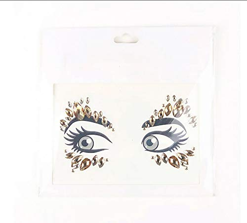 LFVGUIOP Gesicht Aufkleber Stirn Crystal Glitter Juwelen Festival Party Bindi Make-up Auge Tattoo Aufkleber Handwerk für Musik Festival Pack of 2 (Stirn Juwel-aufkleber)