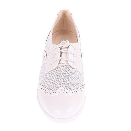 CATISA-BAL4_WH765-Ballerine-Femme Blanc
