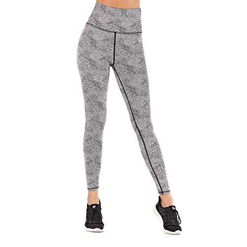 Pantalones de Yoga, Pantalones elásticos Ajustados, Pantalones para Correr de Secado rápido Cintura Alta Leggings para Adelgazar para Mujer Suave Cintura Ancha para Correr