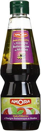 Amora Vinaigrette Huile d'Olive Vinaigre Balsamique 380 ml - Lot de 3