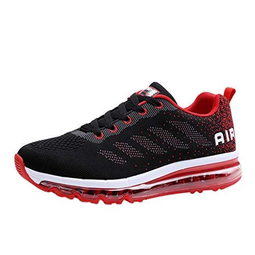KERULA Sneaker Herren Damen Paar gehende beiläufige Schuh Luftpolster laufende rüttelnde Sport Turnschuhe Sportschuhe Arbeitsschuhe Sommer Running Schuhe - Vans Rote Kleinkinder