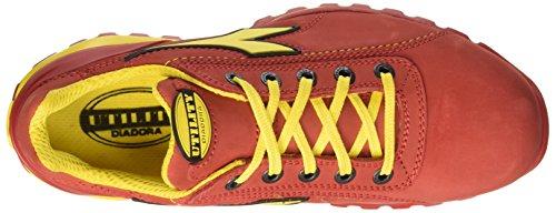 Diadora Unisex-Erwachsene Glove Ii Low S3 Hro Sicherheitsschuhe, Grau, MEDIA Rot (Rosso Scuro)