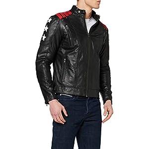 Urban Leather Giacca da uomo Rising Star, Nera, misura: 4XL, Black, Taglia 4XL