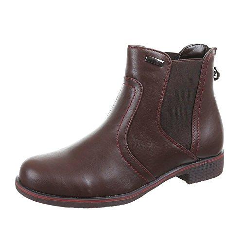 Chaussures, bottines 53012–pa Marron - Marron foncé