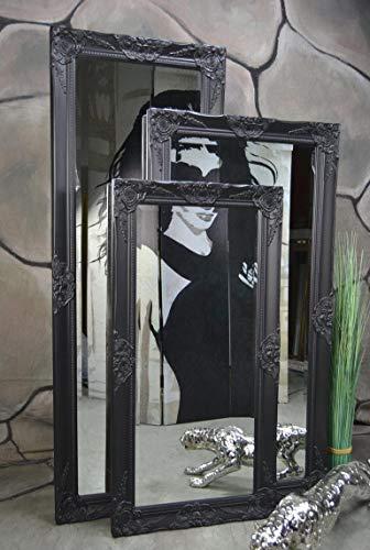 Schlafzimmer Spiegel (Livitat® Wandspiegel Badspiegel Spiegel barock antik Schwarz Landhaus Rokoko 120 x 60 cm)
