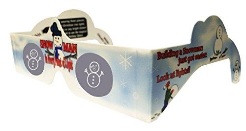 Holiday Specs Weihnachten 3D Brille Schneemann