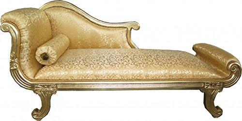 Casa Padrino Barock Chaiselongue Modell XXL Gold Muster/Gold- Antik Stil - Recamiere Wohnzimmer...