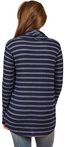 Yeesea Femme T-Shirt Rayé à Manches Longues Casual Top Blouse Chemisier Hauts Navy