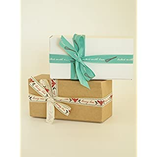 Pack of 6 Small Gift Boxes (Code#A) Cardboard Flat Pack Self Assembly Gift Box suitable for Chocolates, Jewellery, Small Gifts.