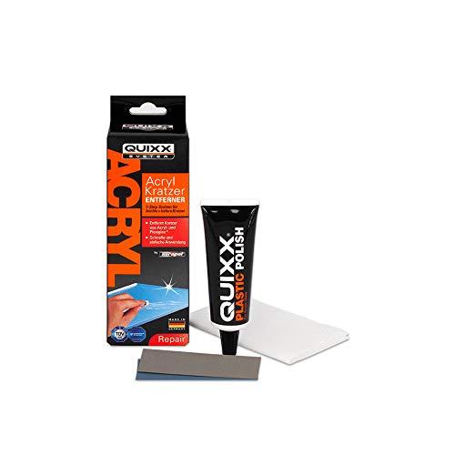 QUIXX Acryl Kratzer-Entferner für Acryl- und Plexiglas-Oberflächen | Kratzerentferner Scheinwerfer | Kratzer Entferner Kunststoff