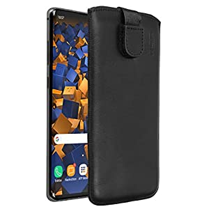 mumbi Real Leather Case Compatible with Samsung Galaxy Leather