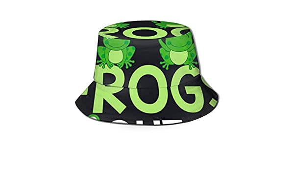 gii6LMLMLFGHLBB Unisex Men and Women General Caps Cotton Fishermans Hat Who Let The Frogs Out Hat Bucket Cap Black Summer