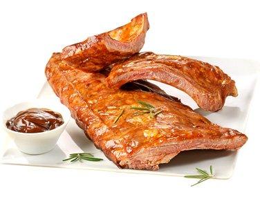 Ribs de porc cuit marinade barbecue - 600 g - Surgelé