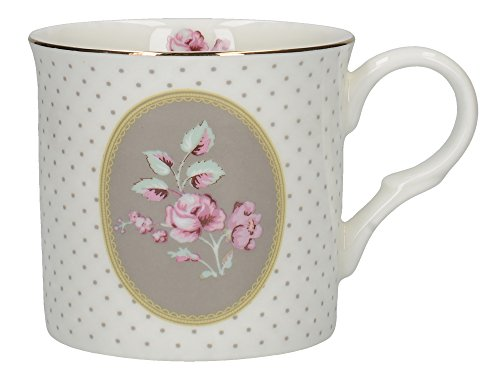 Creative Tops KATIE ALICE Ditsy WHITE Oval BONE CHINA Shabby Chic PALACE MUG Vintage Inspired