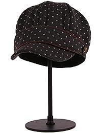Categoría sombreros de mujer, Señoras boina tapa octogonal y el invierno knit hat,2 Negro gris