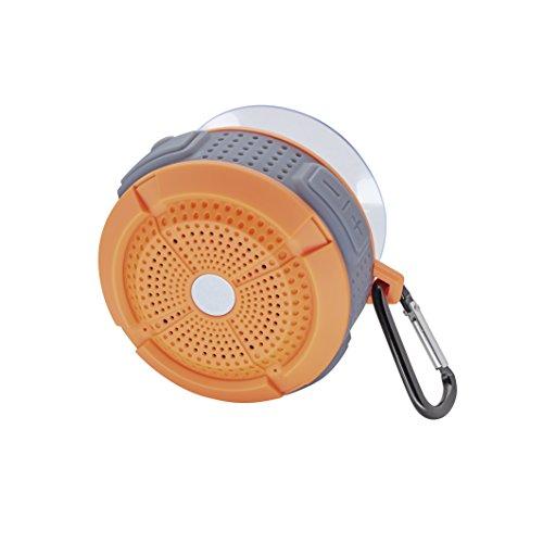 Mac Audio BT Wild 201 | Wasserfester Bluetooth-Lautsprecher für Duschkabinen und Saunen | für iOS und Android | 4 Stunden Akkulaufzeit - orange/grey