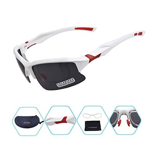 Yiph-Sunglass Sonnenbrillen Mode Weiße und rote Flexible tr90 männer polarisierte Sport Sonnenbrille tac objektiv Fahren Radfahren Laufen Angeln Golf unzerbrechlich Rahmen