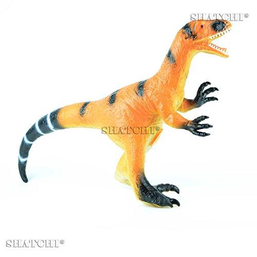 Gifts 4 All Occasions Limited SHATCHI-712 7003 - Figura de dinosaurio de goma para niños, modelo de juego táctil con sonido, multicolor