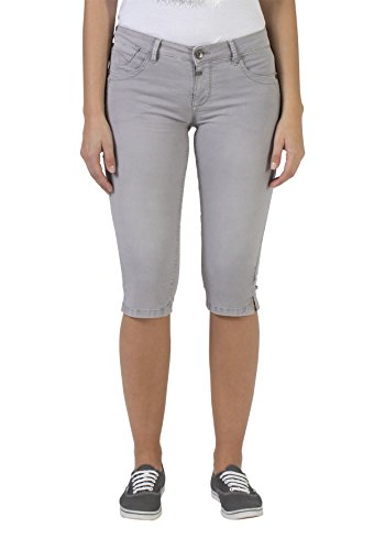 Timezone Damen Slim Salome Shorts, Grau (Chateau Grey 9099), W33