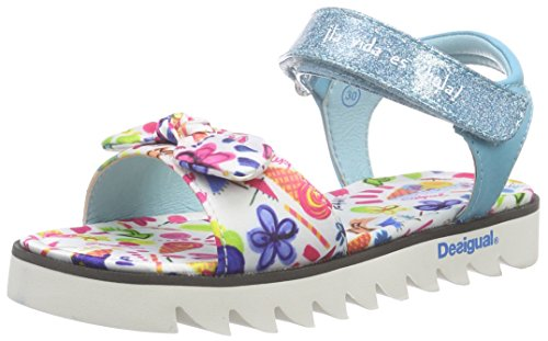 Desigual Shoes_Sandalia 2, Sandales Bout Ouvert Fille Bleu (5103 AZUL ATOLL)