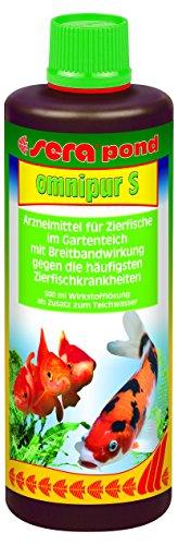 sera 07570 pond omnipur S 500 ml für 10.000 Liter - Breitbandarzneimittel gegen die häufigsten Teichzierfischkrankheiten