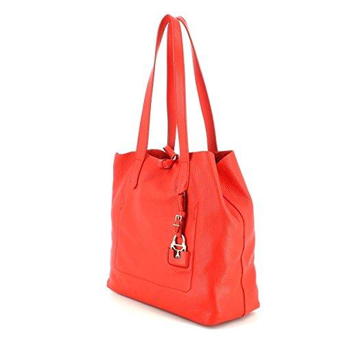 Patrizia Pepe borsa tote pelle 35 cm Bright Red