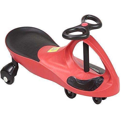 Rexco Swing Car Ride On Swivel Scooter Childrens Toy Kids Wiggle Gyro Twist & Go Xmas (Red)