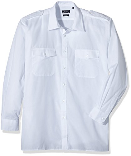 Price comparison product image Premier Workwear Mens Long Sleeve Pilot Shirt White Large (Manufacturer Size:165)