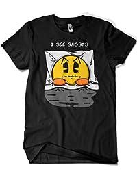 2226-Camiseta I See Ghosts - Pac-Man (Melonseta)