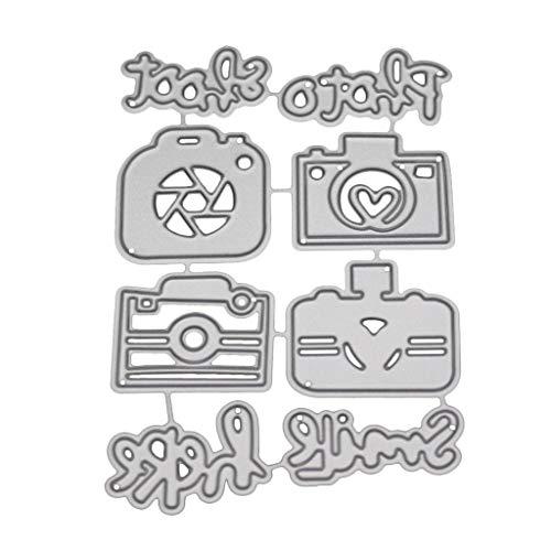 Eliky Camera - Plantilla de metal para troquelar, álbum de recortes, tarjeta de papel con sello para repujado, decoración artesanal