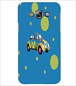 PrintDhaba Floral Car D-5575 Back Case Cover for SAMSUNG GALAXY A7 (Multi-Coloured)