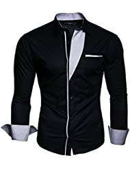 KAYHAN Herren Hemd Slim Fit Bügelleicht, Super Modern super Qualität 5 5 Farben zur Auswahl